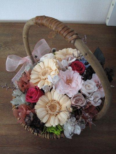 画像2: Preserved flower  恋する乙女に贈る花【フラワーバスケット】