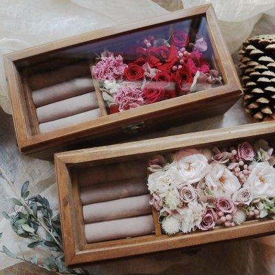 画像3: Preserved flower   ウッド ジュエルボックス