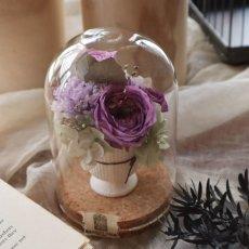 画像5: プリザーブドフラワー | 【誕生石の花 M】コルクガラスドーム (5)