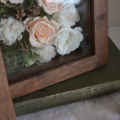 画像1: Preserved flower | Happier幸せなあなたに【ガラスカバーつきフラワーフレーム】