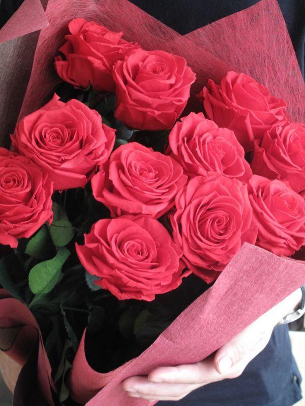 画像1: Preserved flower | 幸せのジンクス ダズンローズ【バラの花束/要予約】 (1)